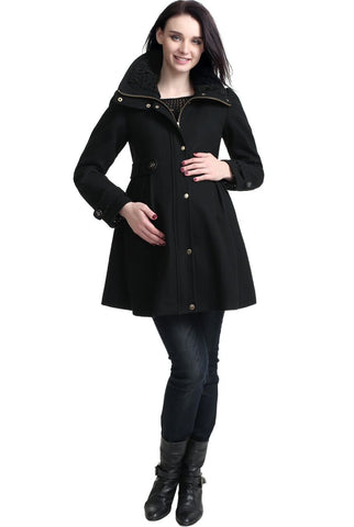 "Kimi + Kai Maternity ""Olivia"" Wool Blend Walking Coat"