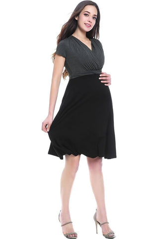 "Kimi + Kai ""Sarah"" Faux Wrap Maternity/Nursing Dress"