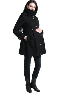 "Kimi + Kai Maternity ""Olivia"" Wool Blend Parka Coat"