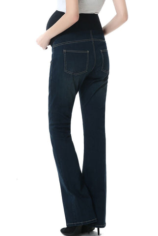 "Kimi + Kai Maternity ""Leni"" Modern Boot Cut Denim Jeans"