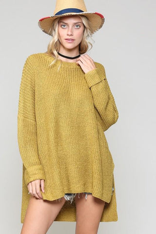 Lois Chunky Over Sized Sweater - Green