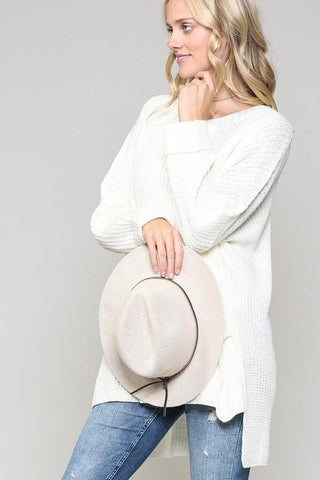 Lois Chunky Over Sized Sweater - Off White
