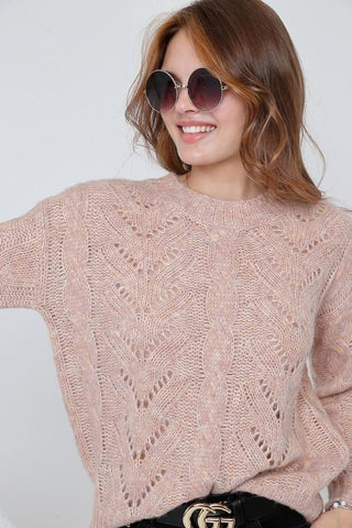 Amaya Mock Neck Puff Sleeve Sweater