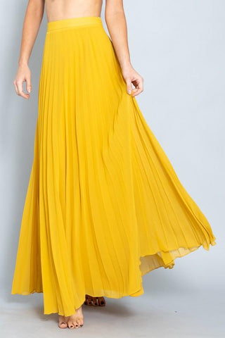 Alessandra Pleated Maxi Skirt