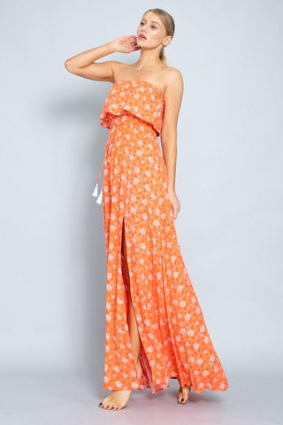 Nina Strapless Maxi Dress