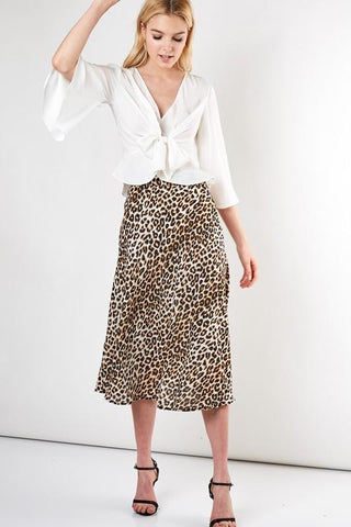 Feline Leopard Mini Flare Skirt / ORDER NOW - RESTOCKING 10/31/19