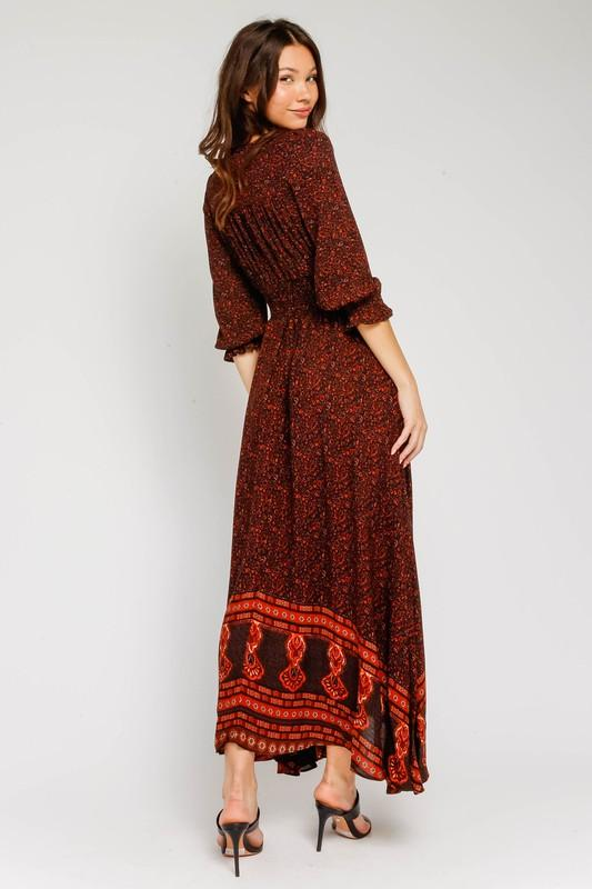 Blakely Maxi Dress with Button Front