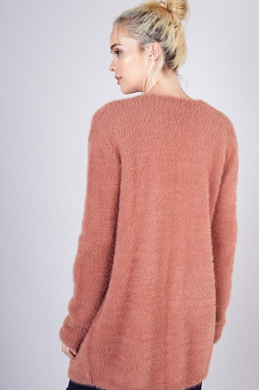 Kelso Fuzzy Pocketed Cardigan