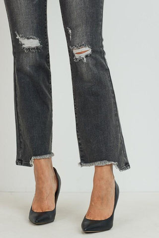 Tahlia Mid-Rise Distressed Crop Boot
