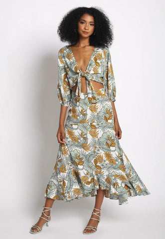 Solange High Low Maxi Skirt & Matching Crop Top