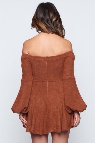 Marissa Off The Shoulder Mini Sweater Dress