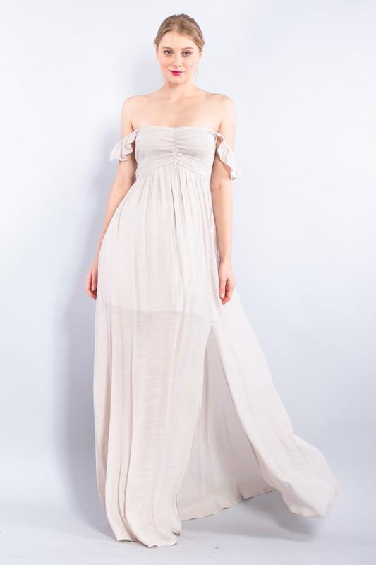 Mya Off Shoulder Maxi Dress