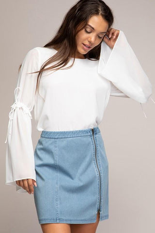 Irene Denim Skirt