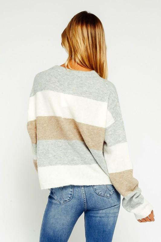 Blair Mocha Stripe Sweater