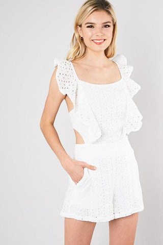 Madisson Eyelet Romper - ORDER NOW / RESTOCKING 1/28/20