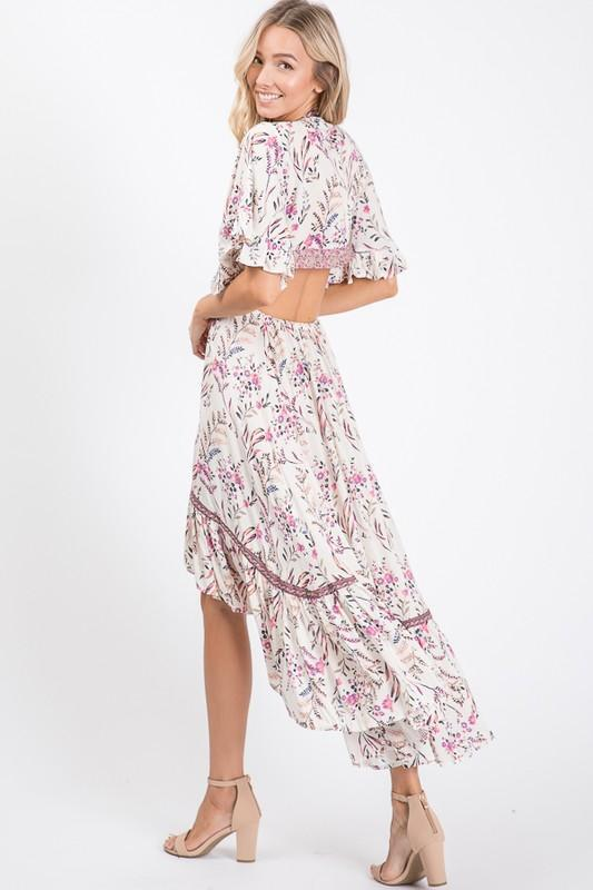 Marcellina Floral High Low Dress
