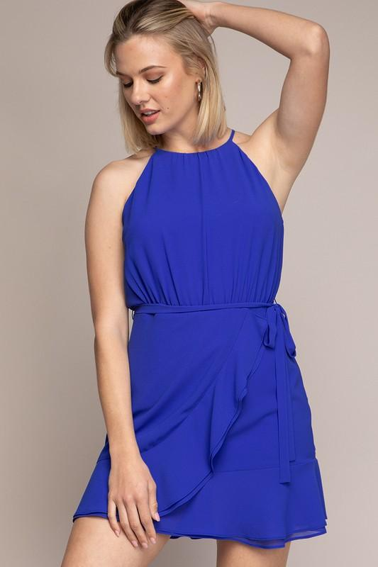 Mia Flare Mini Dress - Royal Blue