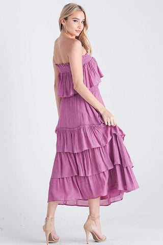 Fabiana Ruffle Tube Top & Ruffle Skirt Set
