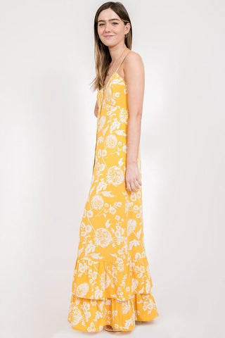 Miriam Floral Ruffle Maxi Dress