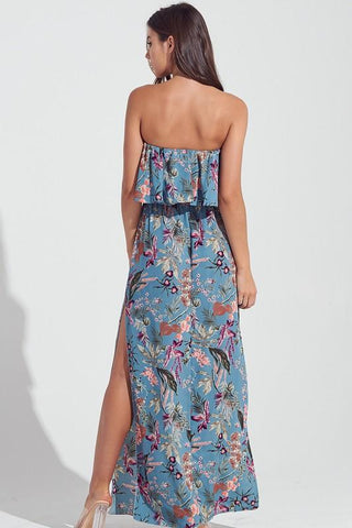 Cami Strapless Ruffle Maxi Dress