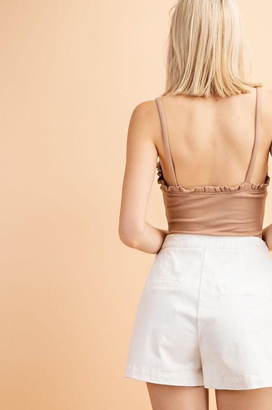 Judy Ribbed Bodysuit - Nude