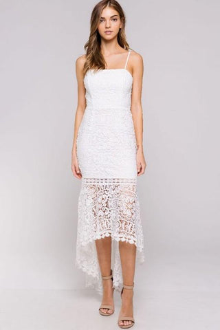 Valentina Crochet Mermaid Dress - White