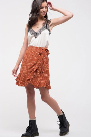 Piper Polka Dot Wrap Skirt