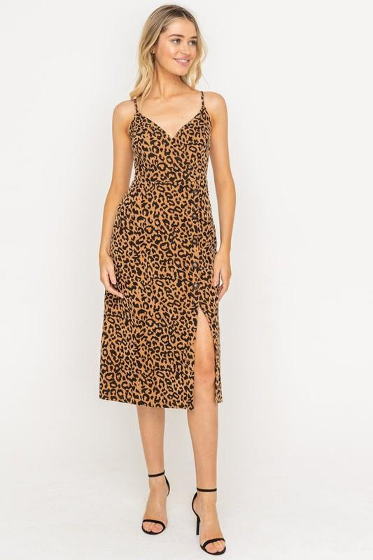Gianna Leopard Midi Dress