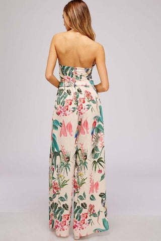 Alanna Tropical Crop Top & Matching Wrap Pants Set