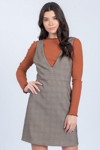 Jessica Plaid Woven Dress