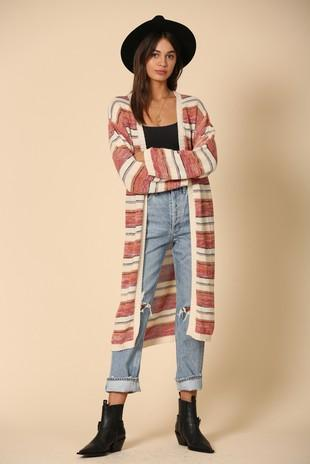Yvonne Striped Duster Cardigan