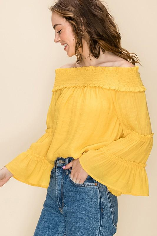 Avery Gauze Off The Shoulder Top