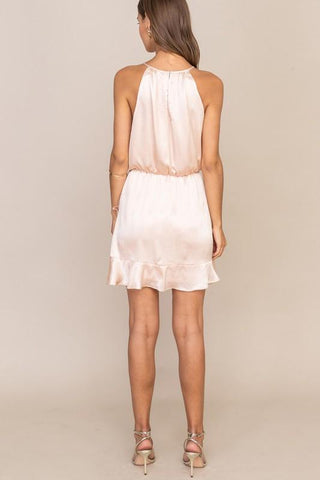 Darlene Halter Ruffle Dress
