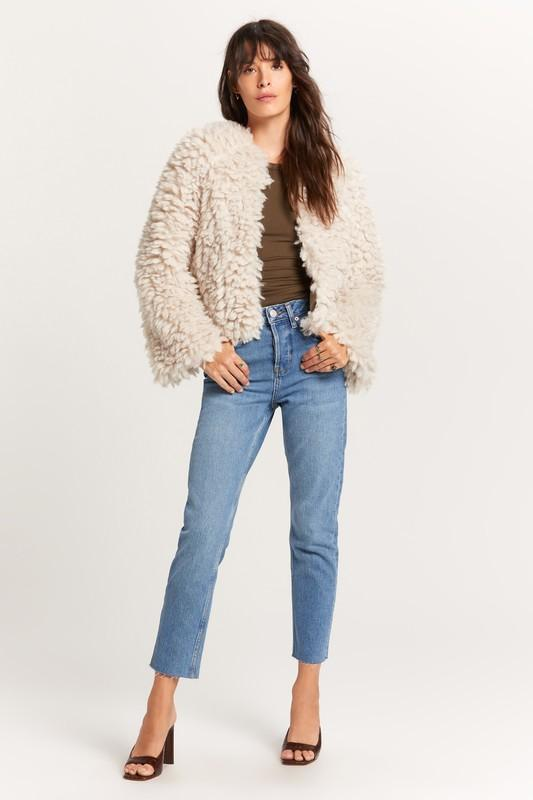 Giselle Fur Jacket with Fluted Sleeves