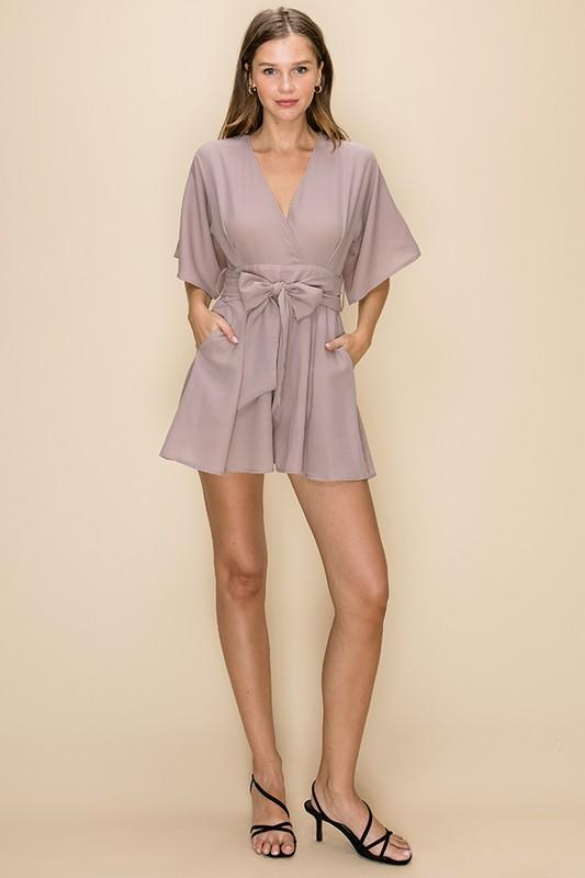 Sass Kimono Romper with Cut Out Back