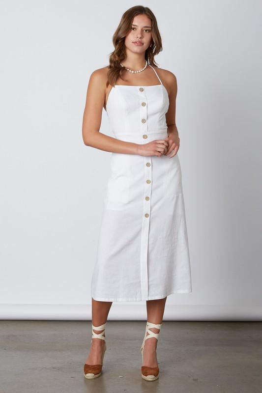Lianette Halter Linen Button Down Dress