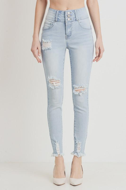 Ayleen High Rise Skinny Jean - Light Denim