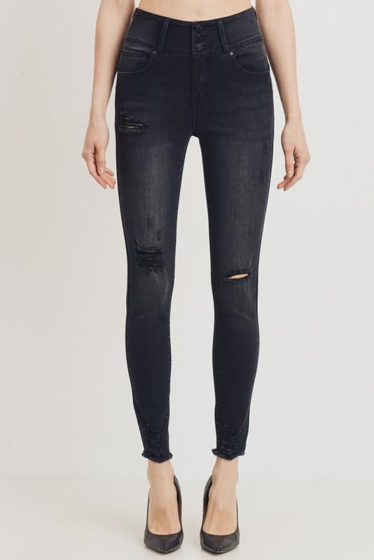 Ayleen High Rise Skinny Jean - Black