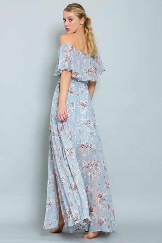Clara Off Shoulder Floral Maxi Dress
