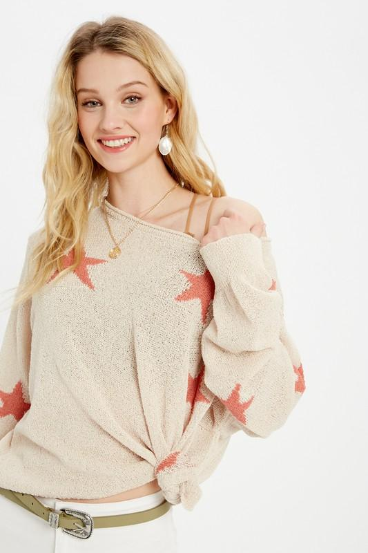 Star Lightweight Spring Sweater