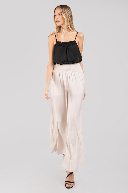 Milena Satin Wide leg Pants