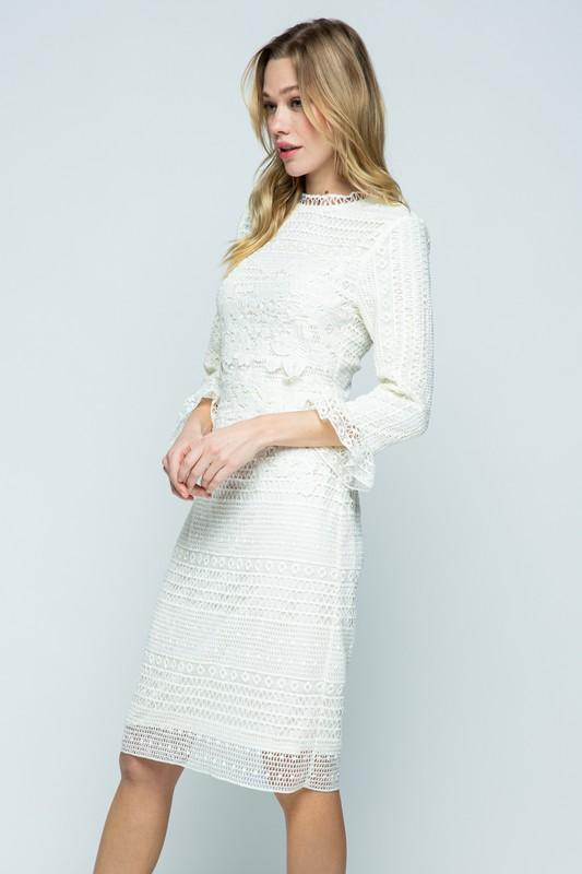 Melania Crochet Midi Dress
