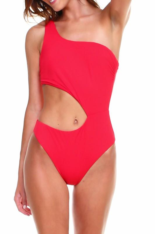 Freda One Piece Cut Out Swimsuit