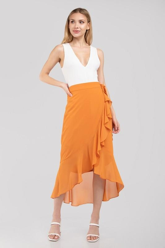 Liz Wrap Midi Skirt