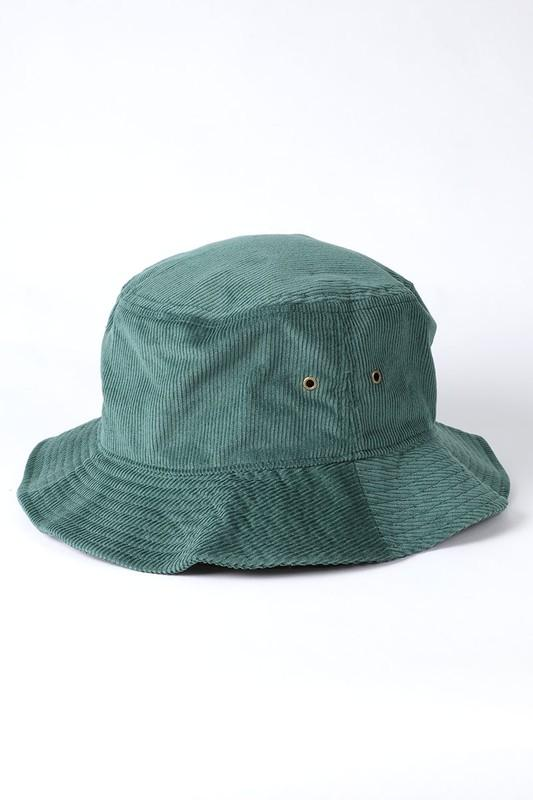 Karim Corduroy Bucket Hat - Dark Green