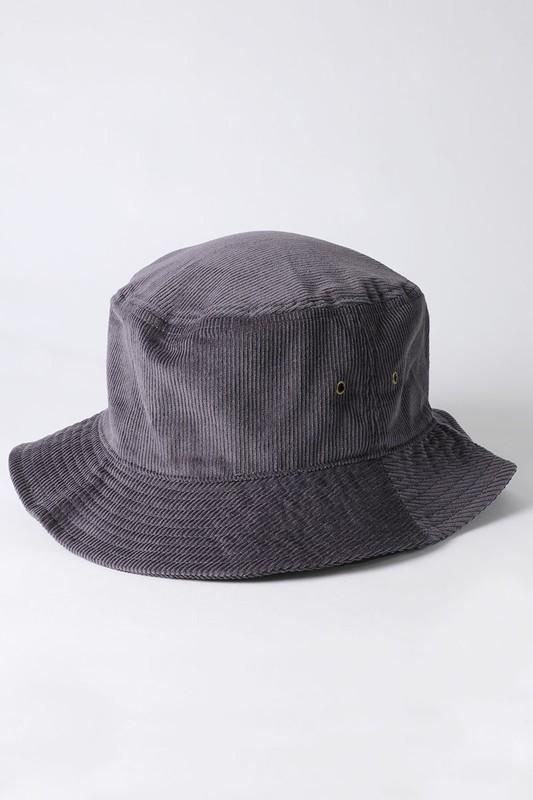 Karim Corduroy Bucket Hat - Dark Grey