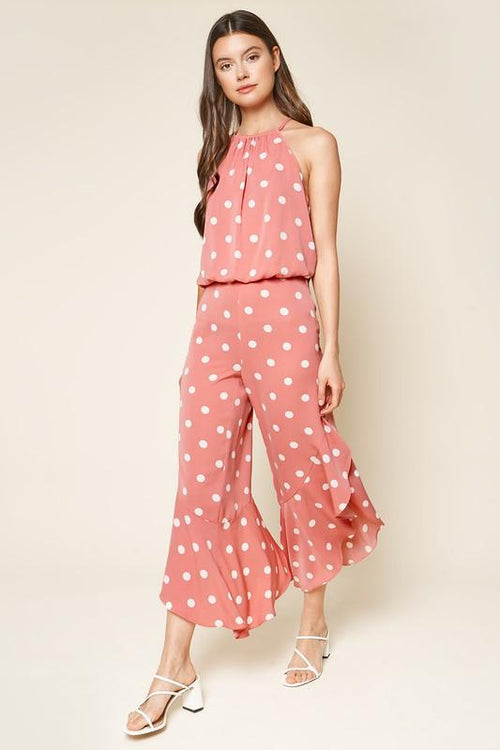 Alisa Polka Dot Ruffled Pants
