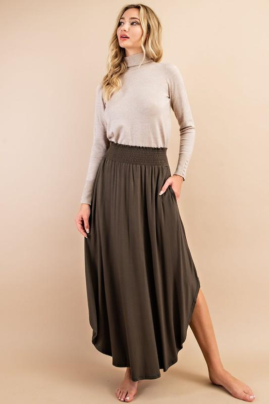 Bailey Maxi Skirt - Olive
