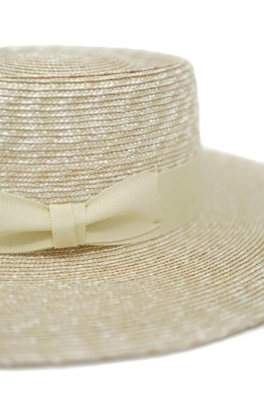 Julianne Straw Gambler Bow Band Hat