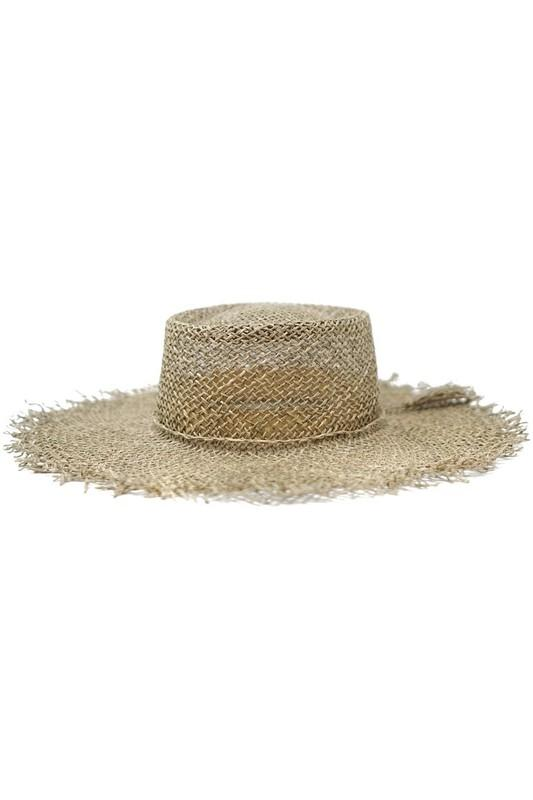 Brooke Raw Edge Seagrass Boater Hat